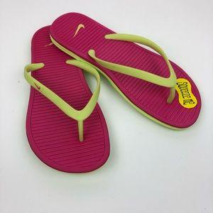 Nike Bright Neon Flip Flops